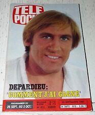 TELE POCHE  #815 23/09 1981 DEPARDIEU FRANK ZAPPA MOTO GNOME ET RHONE NATATION