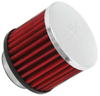 "62-1460 K&N Vent Air Filter 1-1/2"" VENT 3""D 2-1/2""H CHROME TOP (KN Universal Air"