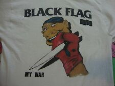 Vintage 80's BLACK FLAG MY WAR tour concert Punk Rock Misfits Ramones T Shirt S