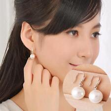 Plated Eardrop Fashion Hook Earring 10MM Natural Pearls Ear Studs Dangle