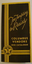 Columbus Vending Machine Vendors 1935 Catalog Brochure Gumball Peanut Gum