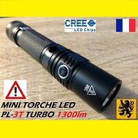LAMPE TORCHE LED PL-3T 1xCREE Turbo 1300Lm 4V 2.5W 100m IPX8 6 MODES ETANCHE