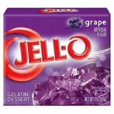 Jell-O Grape Instant Jello Gelatin Mix 3 oz Box (OVERSTOCK SALE)
