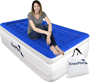 EnerPlex Luxury 16 Inch Double High Twin Air Mattress with Built in Pump