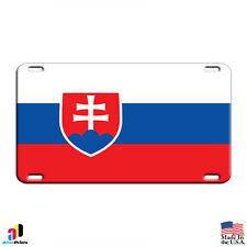 Slovakia Country Flag Aluminum Metal Novelty License Plate Tag
