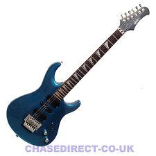 Guitarra Eléctrica Brillo SIL-405 MB Floyd Rose trémolo Metálico Azul Grover sintonizadores