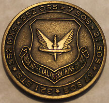 352nd Special Operations Group Mildenhal RAF Air Force Challenge Coin AFSOC  PJ
