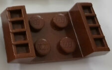LEGO Brown Plate, Modified 2 x 2 with Grills only in Set 7139