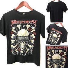 VTG MEGADETH Thirteen Th1rt3en Heavy Metal Rock Band Black T Shirt Men's Small