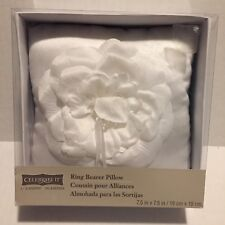 Celebrate It Occasions Ring Bearer White Pillow 7.5x7.5 Inches