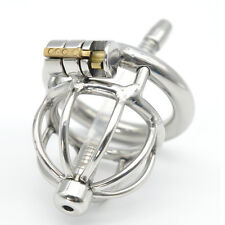 Small Short 304 Stainless Steel Male Chastity Device Cage with Tube  CD102-2