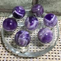 Seven Star array Natural Dream Amethyst ball quartz crystal sphere +base 62g