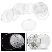 10x 30mm Applied Clear Cases Coin Storage Capsules Holder Plastic
