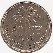50 cent 1926 vlaams * Prachtig * BELGISCH CONGO - ALBERT I * nr 3020