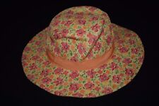 Gymboree Little Hula Girl Hat Girls 0-6 Months Floral Pink Orange Vintage