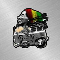 VW Volkswagen Bus Bob Marley Vinyl Decal Sticker Rasta Split Window Van V DUB