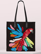 """KATE SPADE NEW YORK ON PURPOSE """"KITT EMBELLISHED"""" PARROT NORTH SOUTH TOTE, MINT"""