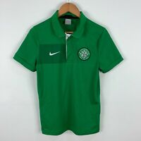Nike Celtic Football Jersey Shirt Mens Small Slim Fit Green Short Sleeve Retro