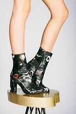 Matisse Graffiti Leather Boots black floral size 7.5 new in box