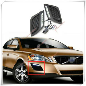 For Volvo XC60 2010-2013 LED Front Bumper Fog lamp DRL Daytime Running Light Kit
