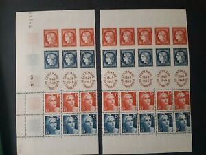 8 bandes 4 timbres France yt 833a 1949 neufs XX cote 160 euros