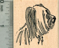 Skye Terrier Rubber Stamp, Dog Portrait G30007 Wm