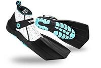 WildHorn Outfitters Topside Snorkel Fins Pearl Aqua Womens 5 Youth 3