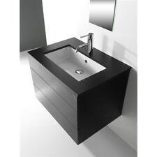 Lavandino Lavabo Sottopiano Bagno Design Adige in ceramica bianco 55x34,5 cm