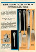 1933 PAPER AD 1847 Rogers Silverware Viande Pattern