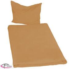 2x Juego ropa de cama poliéster sábana edredón funda almohada 200x135 marrone NU