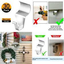 (30 Pack) Vinyl Siding Hooks Hanger, No-Hole Needed Heavy Duty Vinyl Siding Clip