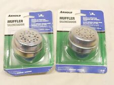 "ARNOLD MUFFLER, M107, LOT OF 2, FOR BRIGGS  & STRATTON 3/4"" HP VERTICAL ENGINES"