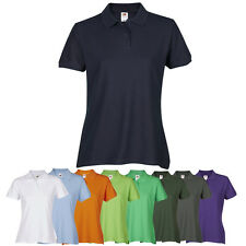 Ladies Womens Polo T-Shirt Shirt Top Sport Lady-Fit Premium FRUIT OF THE LOOM
