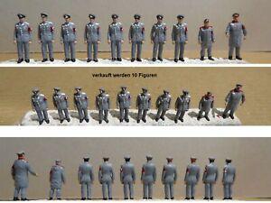 Wehrmacht Offiziere Preiser Figuren H0 1:87 Militär Military grau