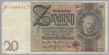 Banknote Deutschland - Deutsches Reich - 20 Mark - 1929