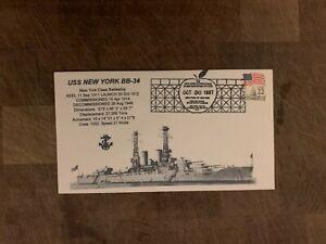 USA 1987 NAVY COVER USCS NEW YORK BATTLESHIP BB-34 STAMP SHOW