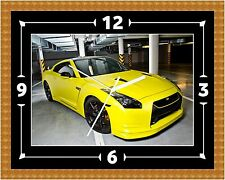R35 Yellow Wall Clock Gift Present Christmas Birthday (Can Be Personalised)