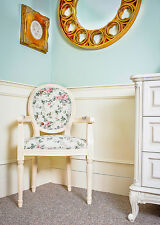 French Louis Armchair Cream Vintage Shabby Chic Country Antique Floral Chair