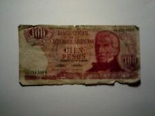 Old Argentina Paper Currency - #297 1973-76 100 Pesos Decreto & Ley - Well Circ