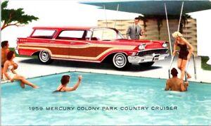 1959 MERCURY Colony Park Country Cruiser AUTOMOBILE, Car Advertising Postcard