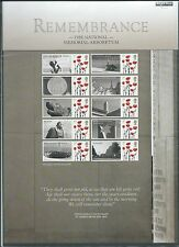 Great Britain 2010 Smilers Sheet Remembrance Unmounted Mint