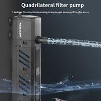 4In1 Aquarium Fish Tank Water Pump Internal Purifier Filter Oxygen Wave Power US
