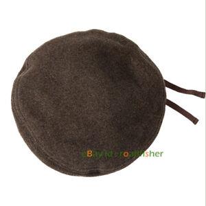Winter Men Women's Wool blend Cap Beret British Retro Painter Cap Peaked Hat New
