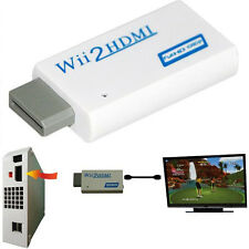 Mini Wii to HDMI 720P/1080P HD Audio Output Upscaling Converter Adapter White