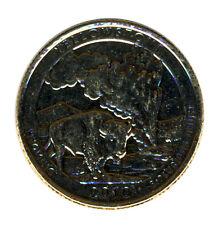 USA - 1/4 Dollar 2010 D - YELLOWSTONE und HOT SPRINGS - vergoldet - ANSCHAUEN