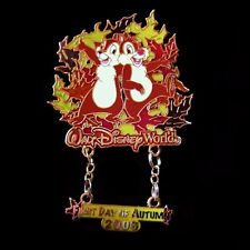 2006 Chip & Dale '1st Day of Autumn' Disney Dangle Pin LE 2000