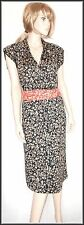 Diane Von Furstenberg 100% Silk Floral Black Wrap  Dress size  UK 14  EUR 42