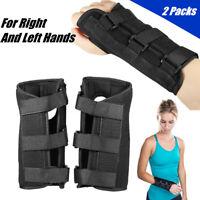 2pcs Wrist Brace Support Carpal Tunnel Hand Sprain Forearm Splint Band Recovery