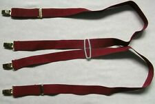 Braces Suspenders MENS Vintage Retro 1970s Burgundy Adjustable