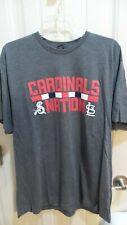 Springfield Cardinals Gray Super Soft Cardinals Nation T-Shirt, Size XL SGA 5/5/